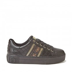 Guess SNEAKER MAYBY TRAPUNTATA LOGO CERNIERE black