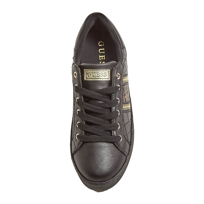 Guess SNEAKER MAYBY TRAPUNTATA LOGO CERNIERE black Le Orme